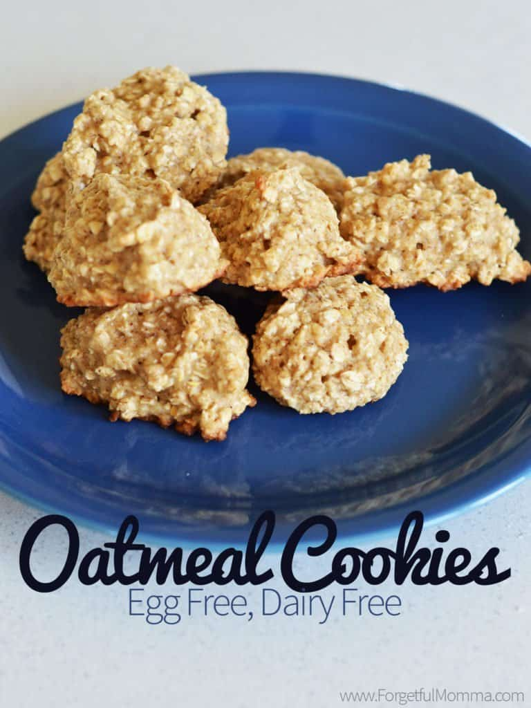 Egg Free Dairy Free Oatmeal CookiesEgg Free Dairy Free Oatmeal Cookies