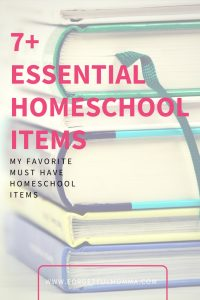 7 Essential Homeschool Items
