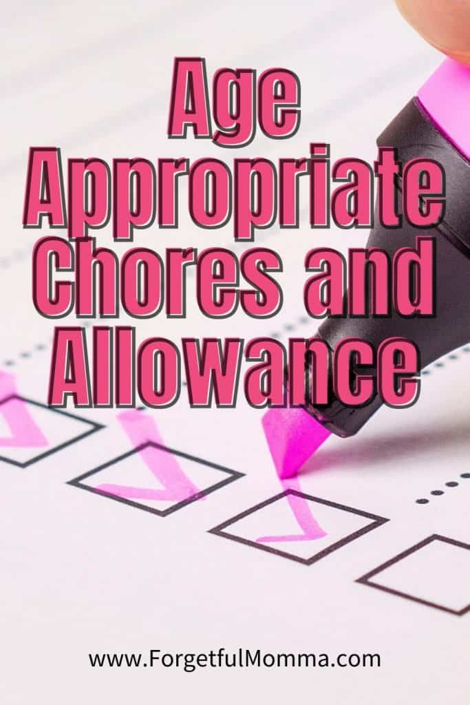 age appropriate chores and allowance