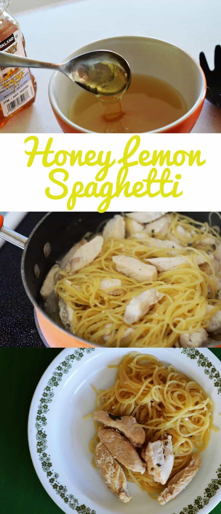 honey lemon spaghetti with chicken