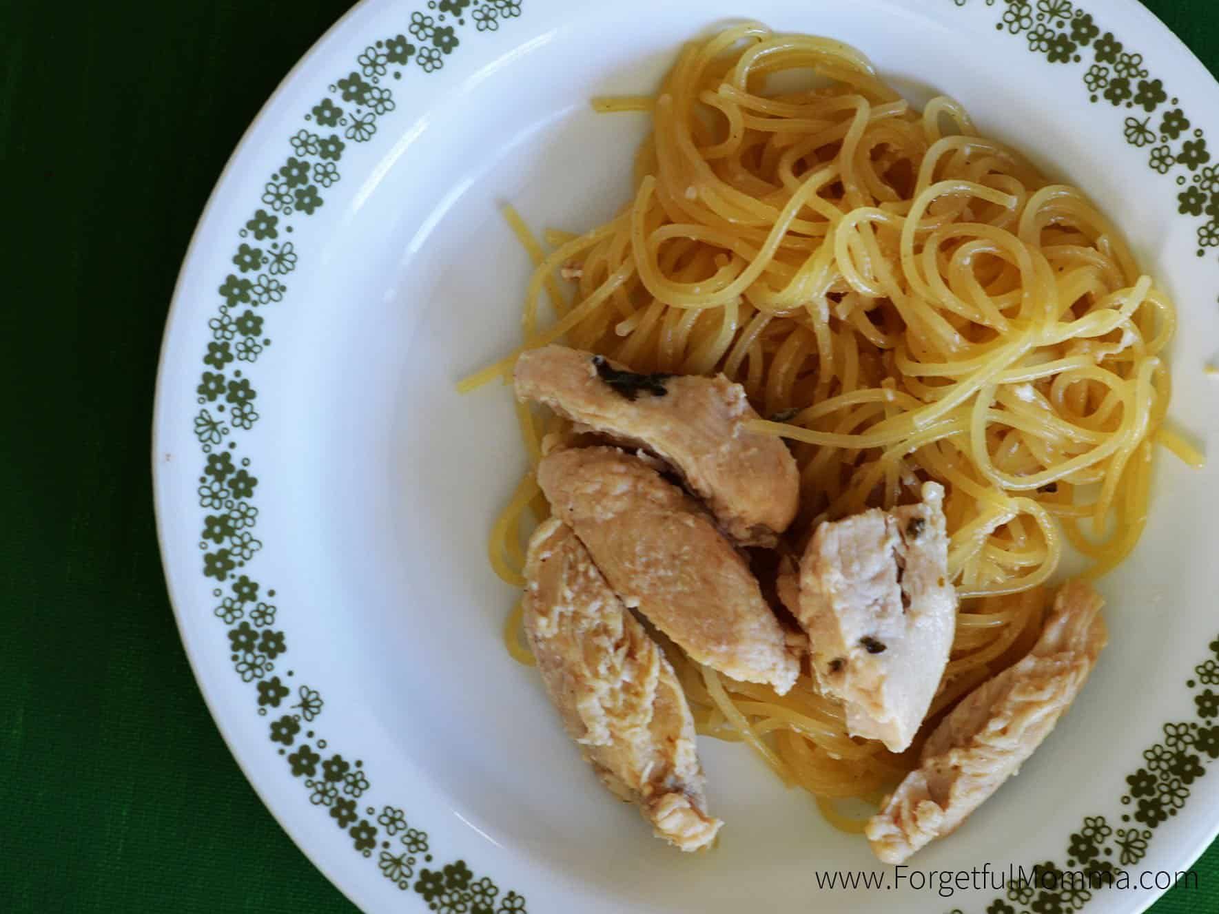 honey lemon spaghetti with chicken