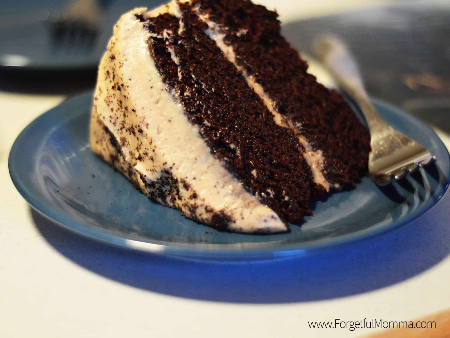 Chocolate Coffee Cake with Peanut Butter Frosting