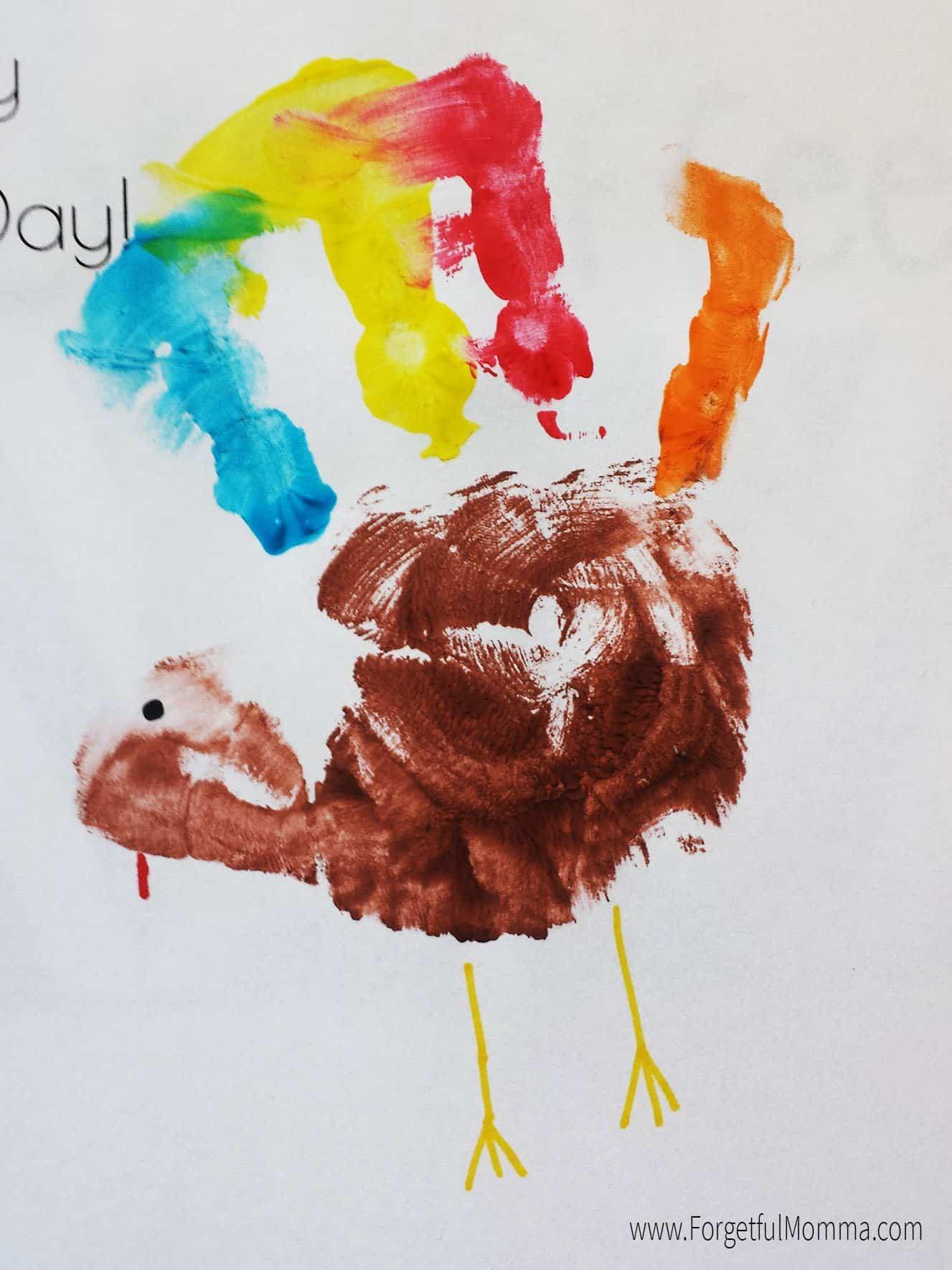 Thanksgiving Turkey Handprint Craft