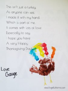 Thanksgiving Turkey Handprint Craft
