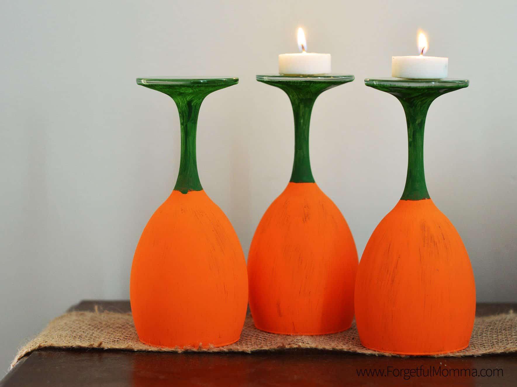 Wine Glass Pumpkins