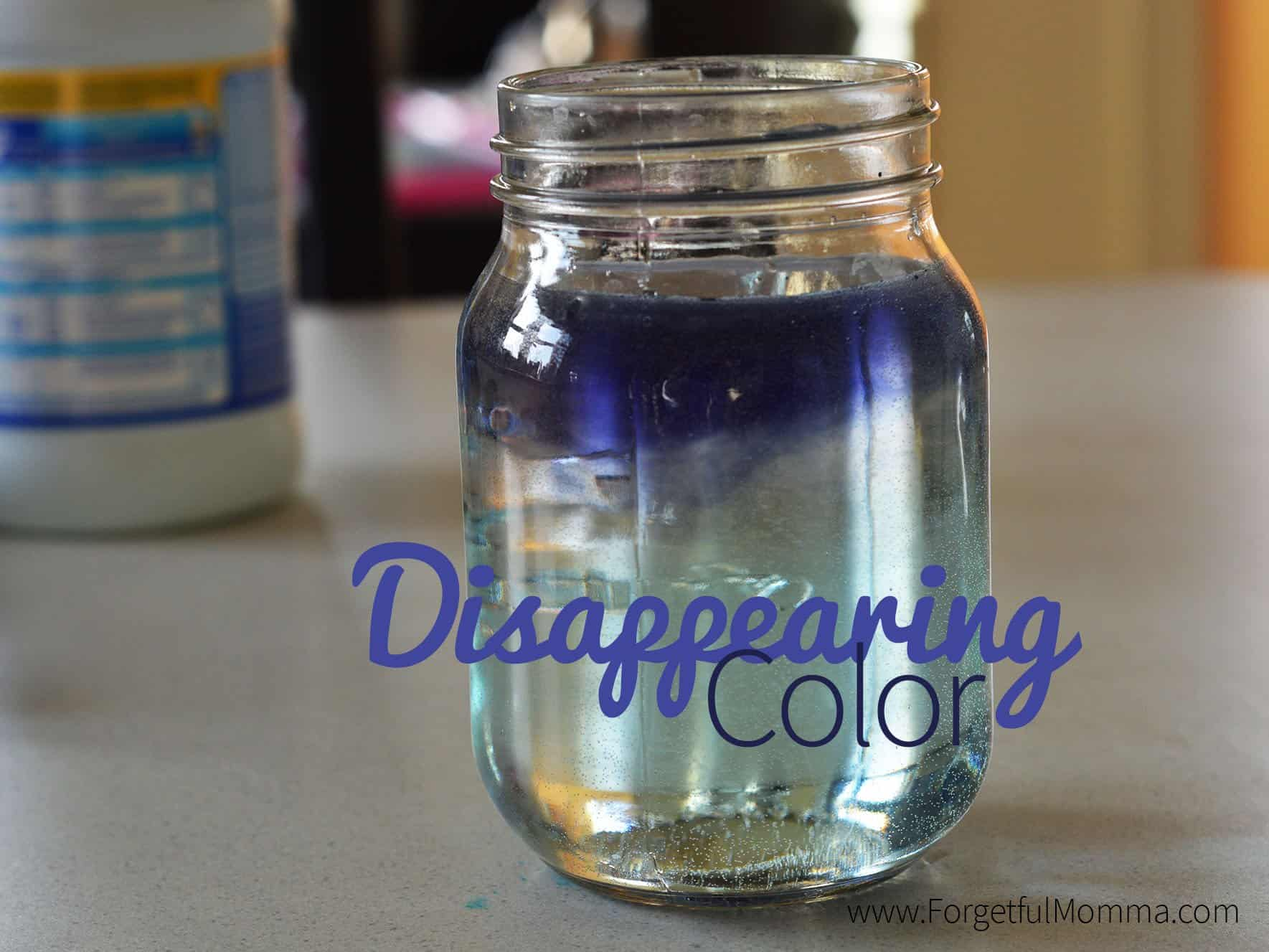 Disappearing Color Science Experiment