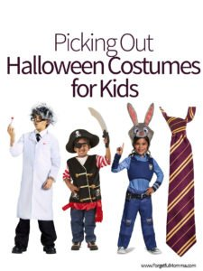 Picking Out Halloween Costumes for Kids