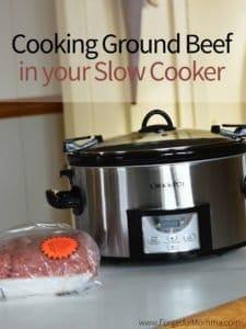 cookingground beef in your slow cooker