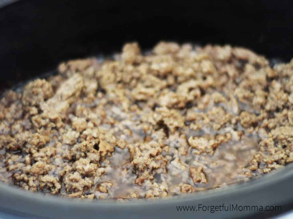 cooking ground beef in your slow cooker