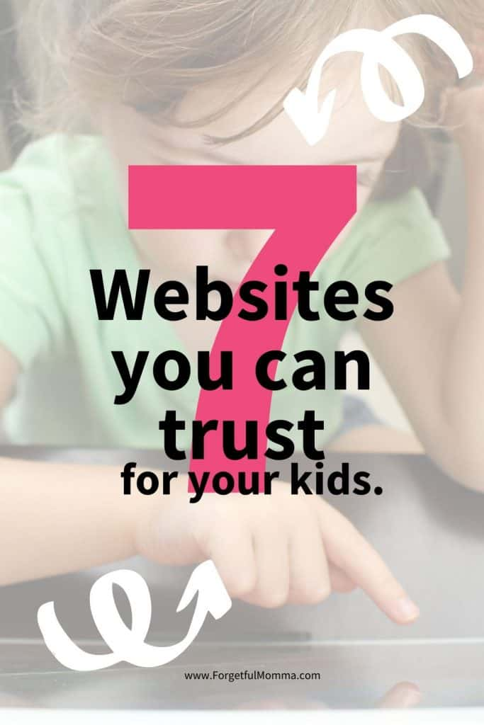 More and more kids are online these days, and letting your kids be online can be a scary thing, one little click and who knows what your kids are going to see.  I have found 7 free websites you can trust for your kids being on.  https://forgetfulmomma.com/2016/12/12/8-free-websites-kids/