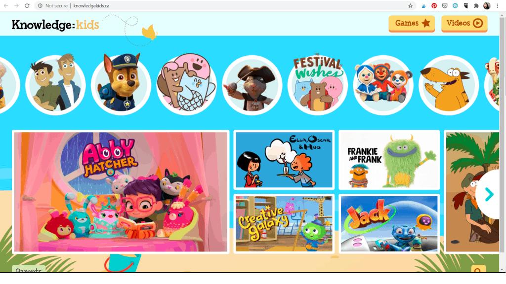 knowledgekids - website for kids