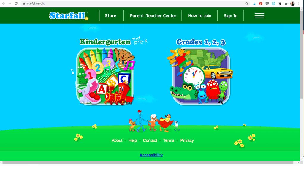 starfall - website for kids