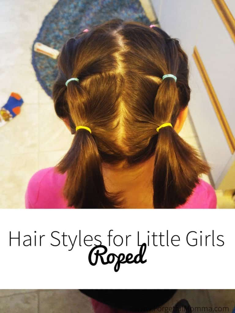 Little Girls Hair Elastic Roped