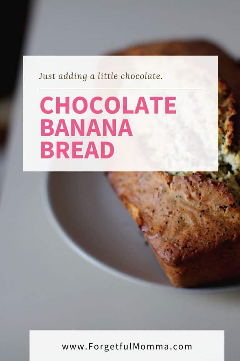 Chocolate & Peanut Butter Banana Bread