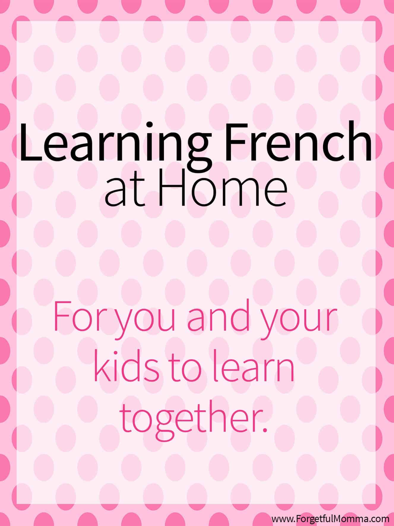 Learning French at Home