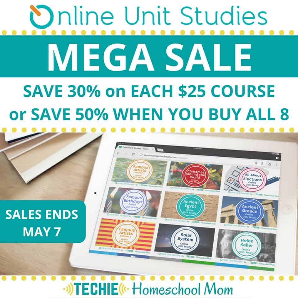 Unit Studies Sale