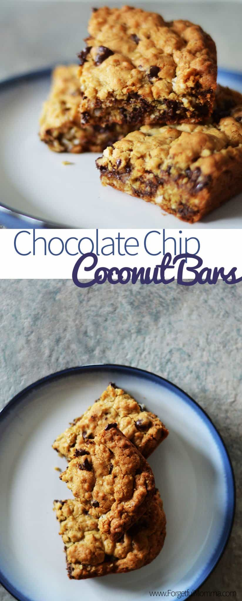 Chocolate Chip Coconut Bars