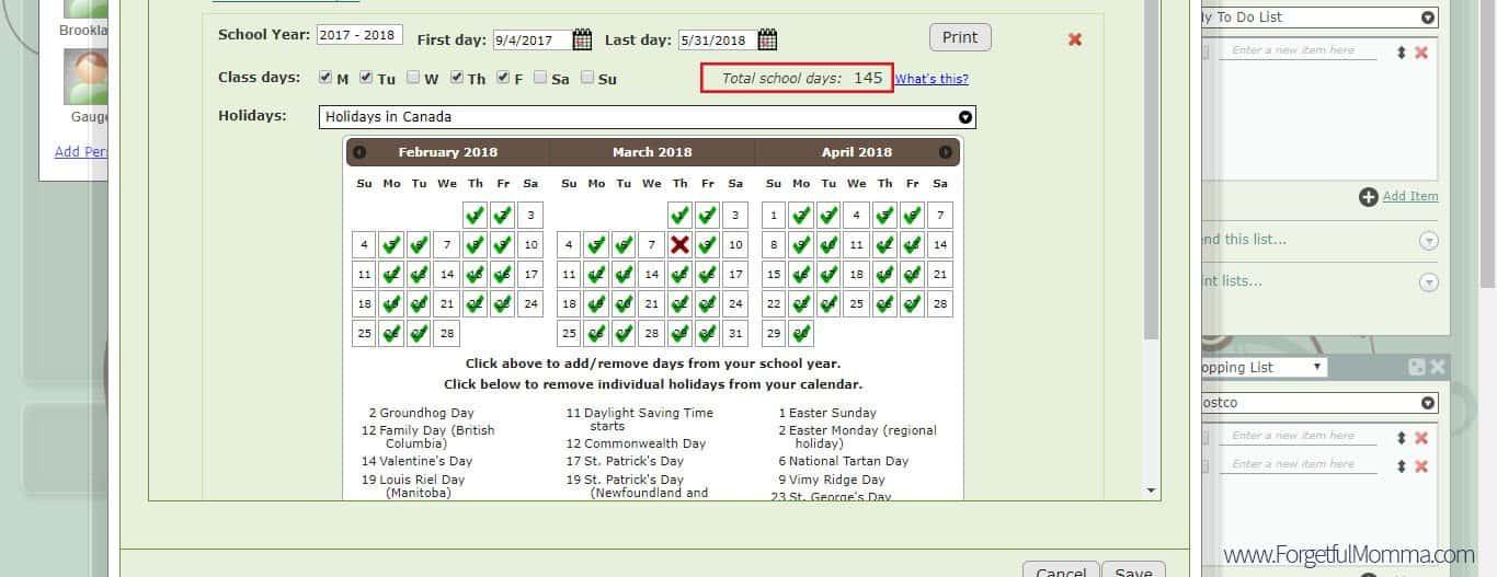 Homeschool Planner Calendar