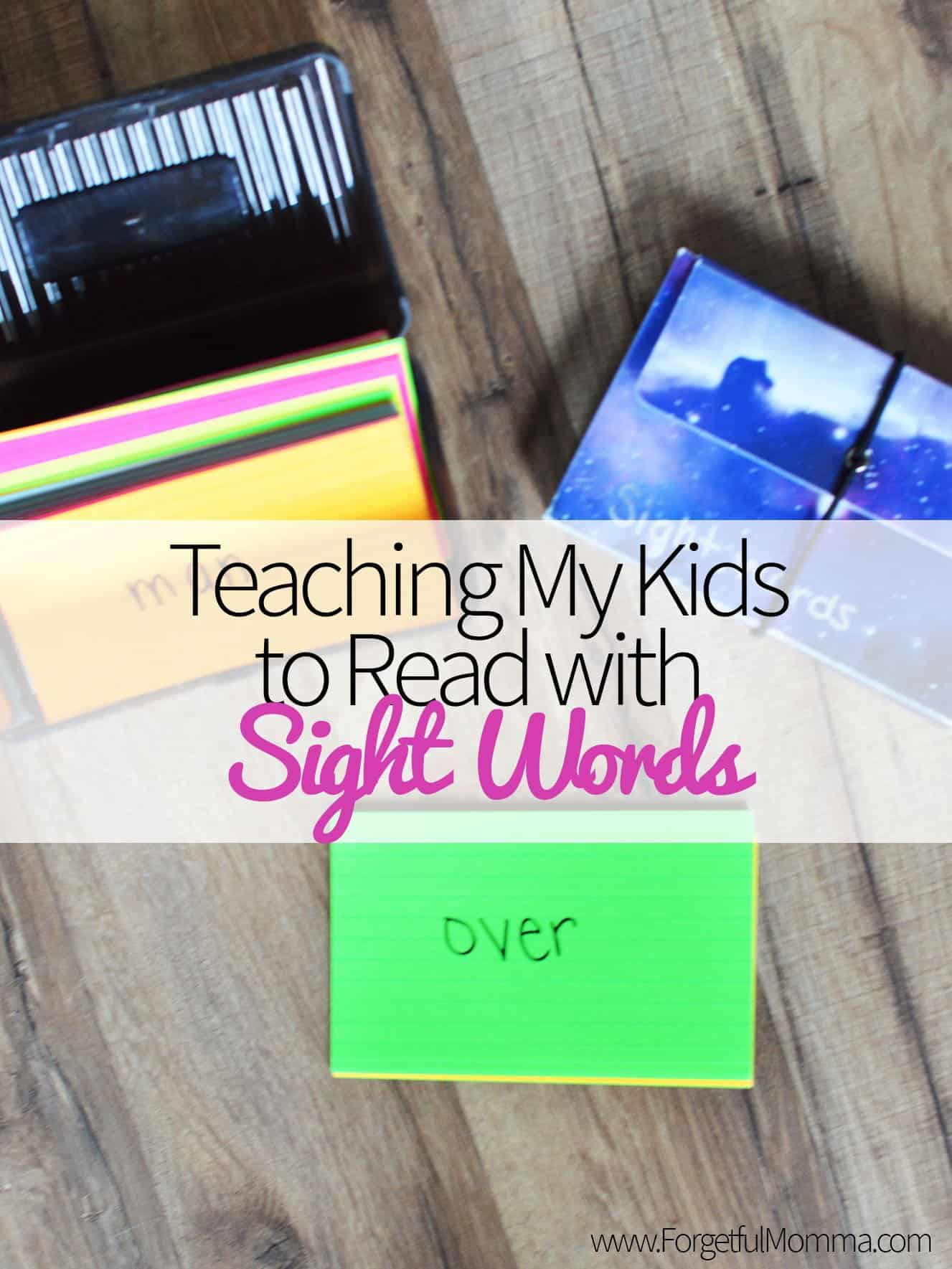 Teaching My Kids to Read with Sight Words