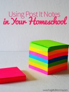 Using Post It Notes in Your Homeschool
