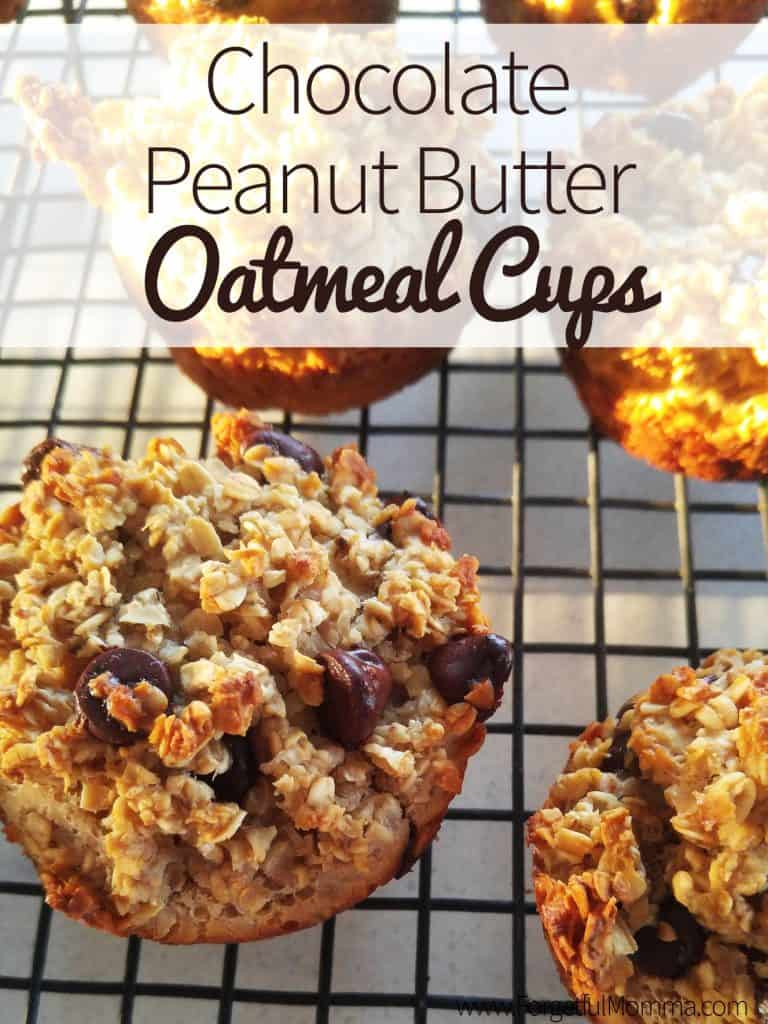 Chocolate Peanut Butter Oatmeal Cups