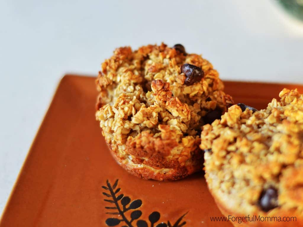 Chocolate Chip Peanut butter Oatmeal Cups