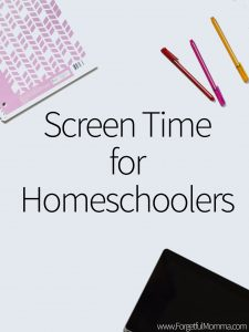 screen time for homeschoolers