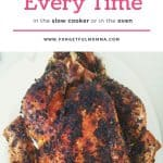 The Best Turkey in the slow cooker or the oven