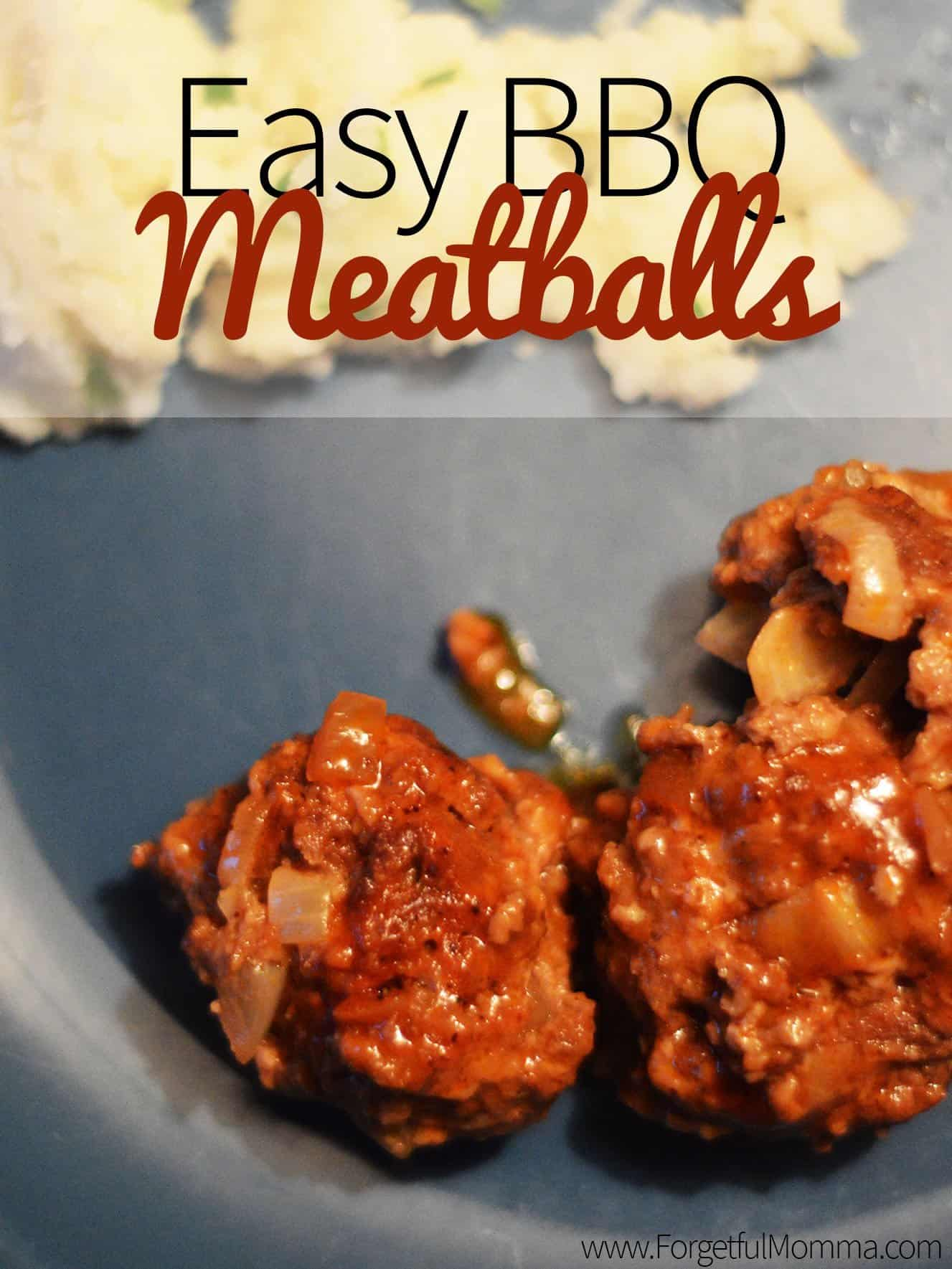 Easy BBQ Meatballs