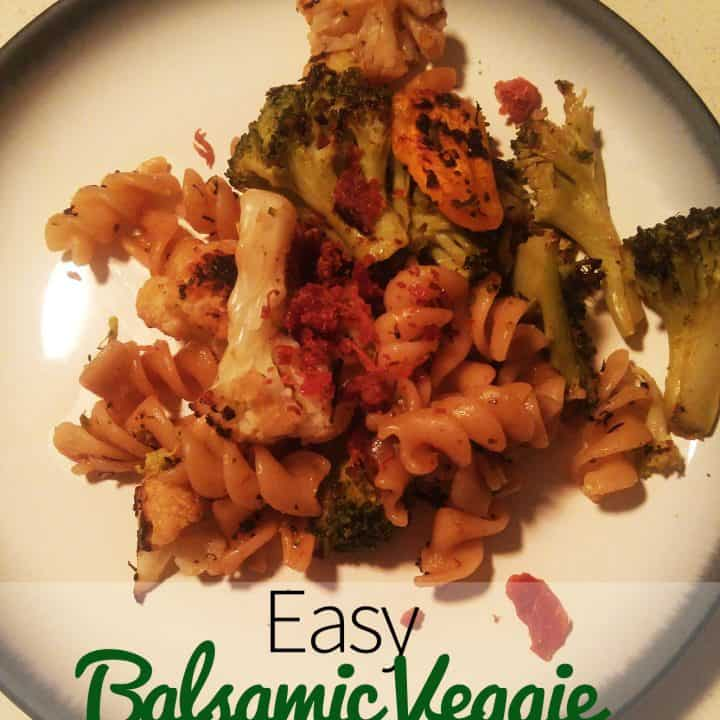 Easy Balsamic Veggie Pasta