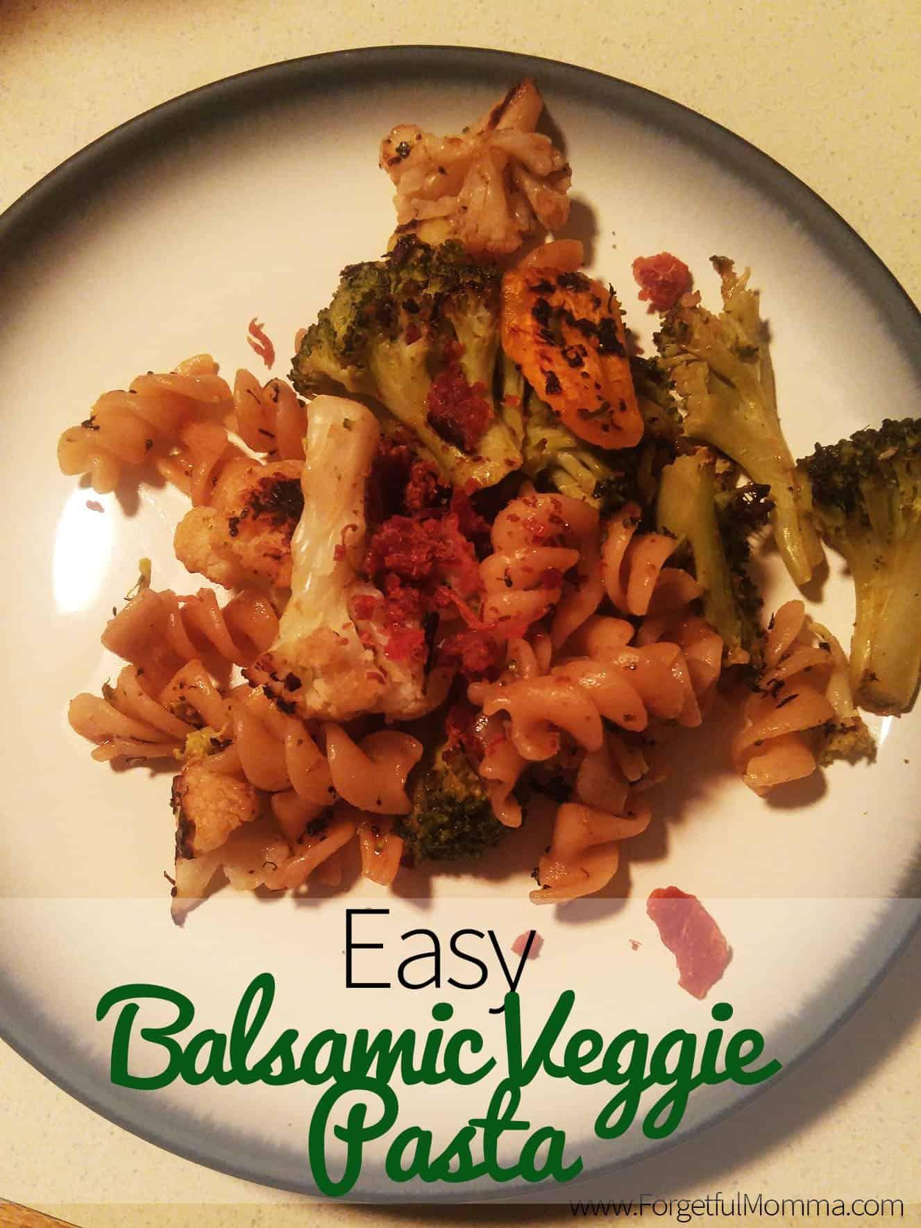 Easy Balsamic Veggie Pasta