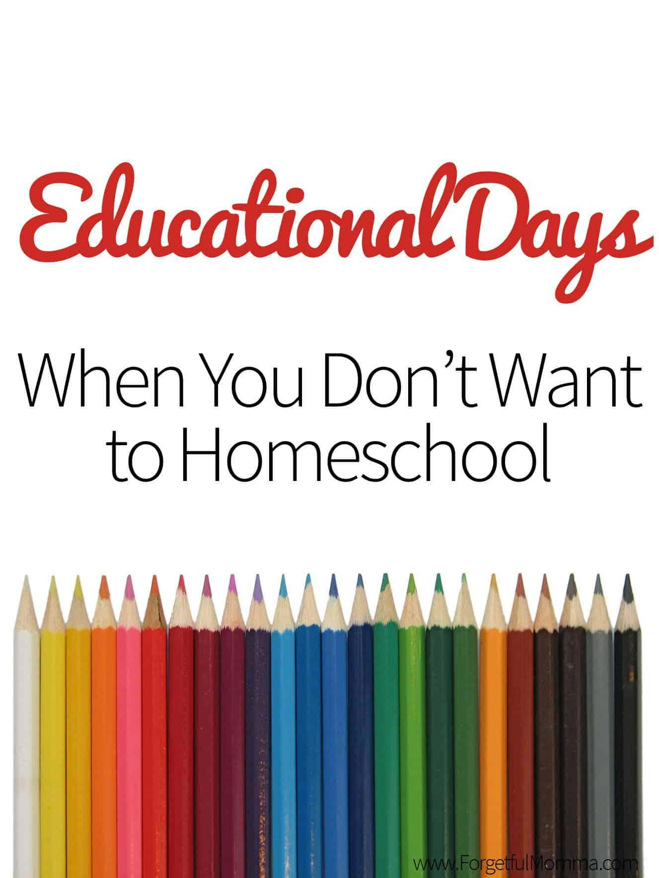 Educational Days When You Don't Want to Homeschool
