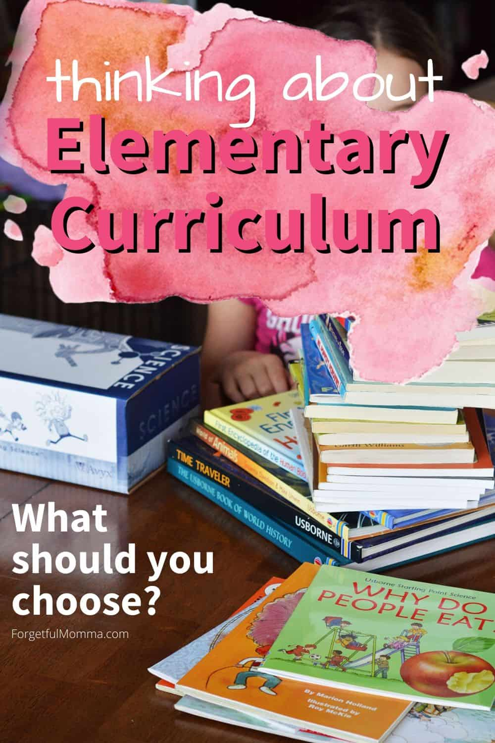 Thinking about Elementary Curriculum Choices for Your Family