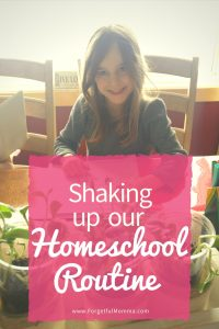 Shaking Up Our Homeschool Routine