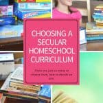 Choosing A Secular Homeschool Curriculum