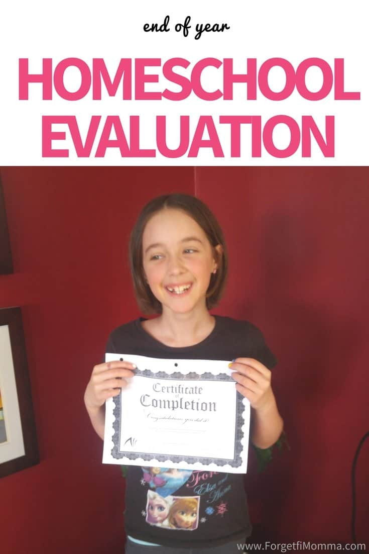 End of Homeschool Year Evaluation