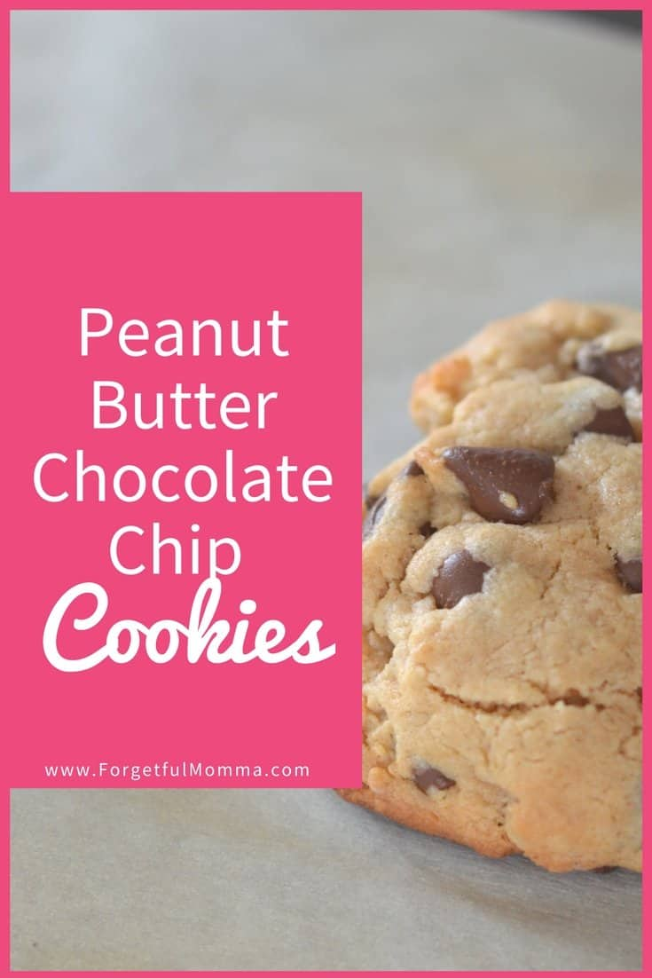 Peanut Butter Chocolate Chip Cookies - forgetful cookies