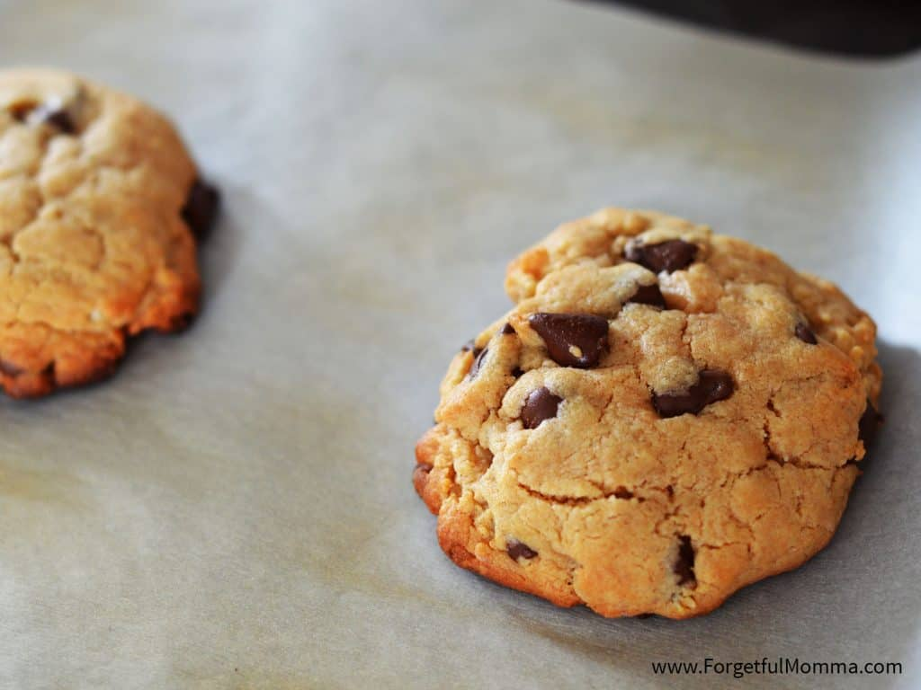 Peanut Butter Chocolate Chip Cookies made with margarine