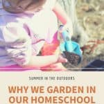 Why We Garden in Our Homeschool