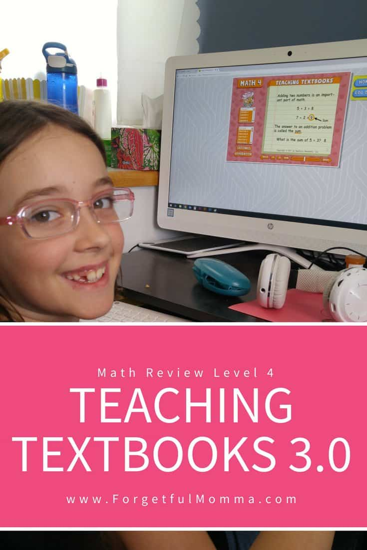 Teaching Textbooks 3 0 - Review of Level 4 Math - Forgetful