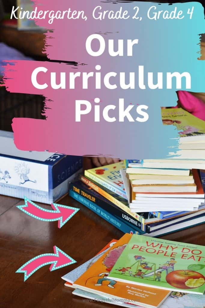 Our Homeschool Curriculum Picks: Grades K, 2, and 4