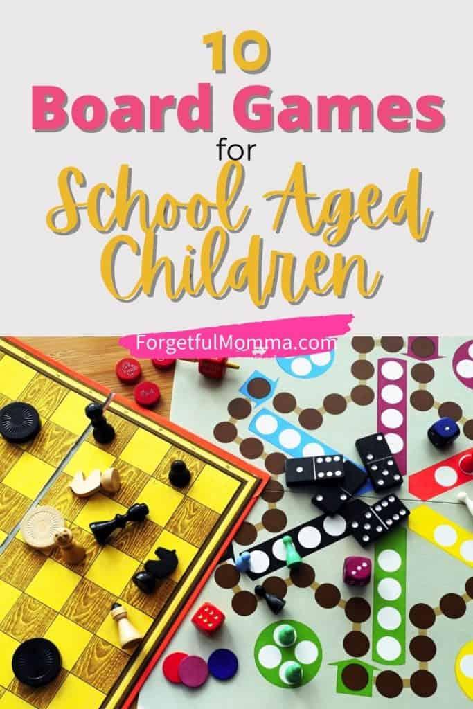 10 Board Games for School Aged Children