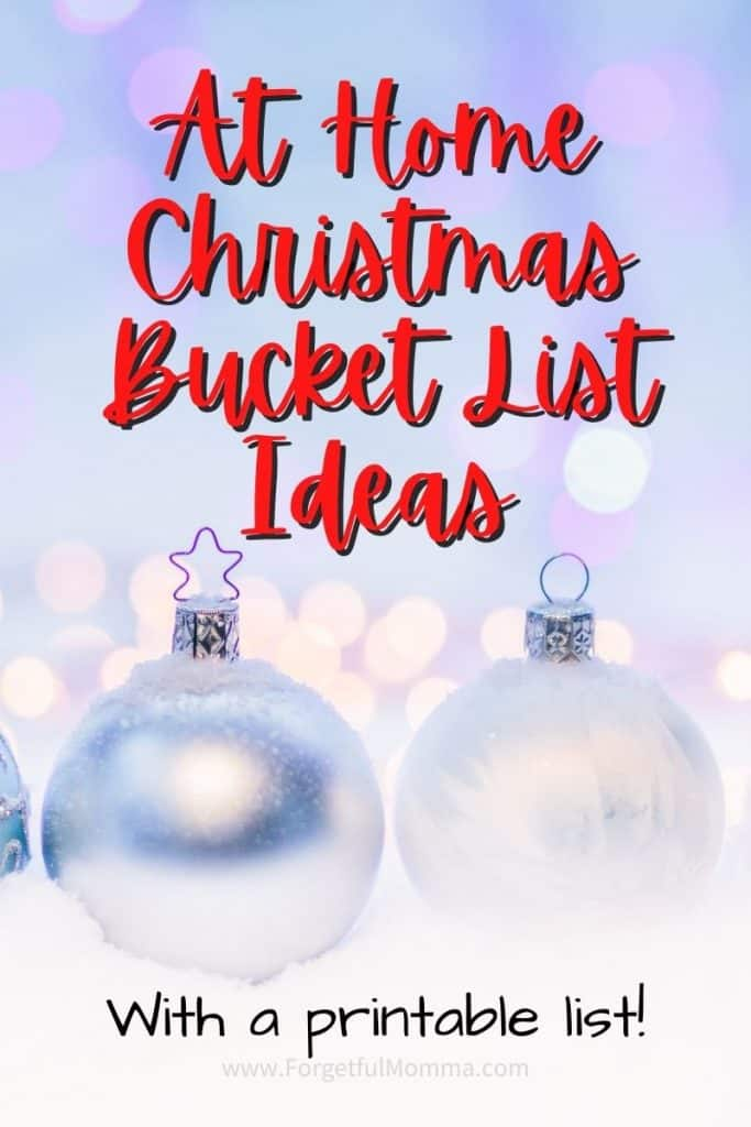 At Home Christmas Bucket List Ideas