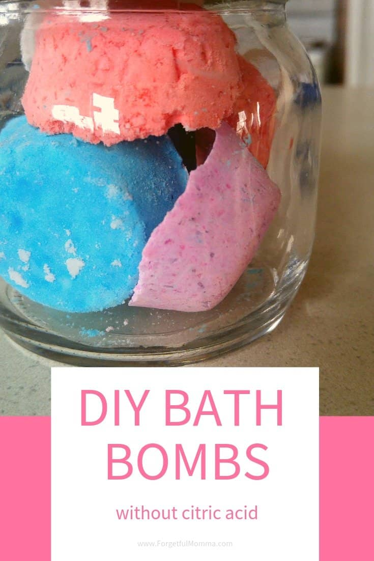 Homemade Bath Bombs Without Citric Acid Forgetful Momma