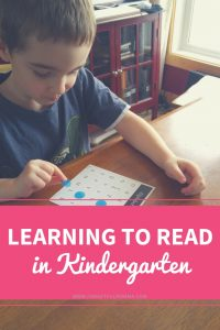 Learning to Read in Kindergarten
