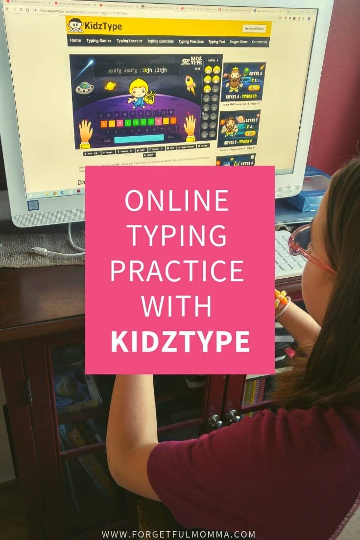 Online Typing Practice With KidzType