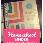 Homeschool Binder Organization