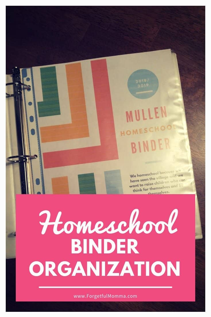 The Science Of Getting Kids Organized >> Homeschool Binder Organization - Forgetful Momma