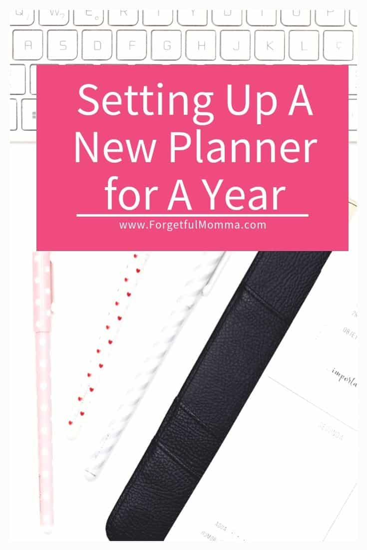 Setting Up A New Planner for A Year