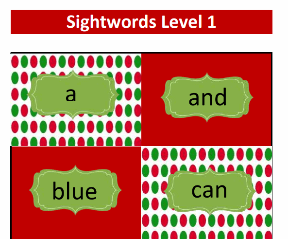 Christmas Sight Words - Little Miss Kate & Company